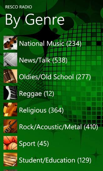 Resco Radio для Windows Phone