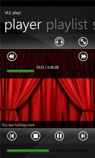 VLC play! для Windows Phone