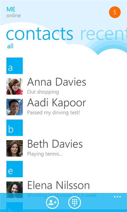 Skype для Windows Phone