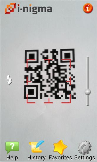 i-nigma для Windows Phone