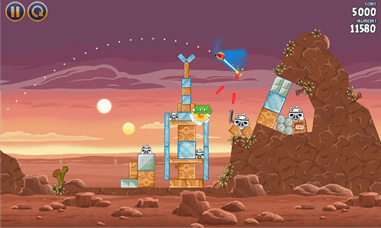 Angry Birds Star Wars для Windows Phone