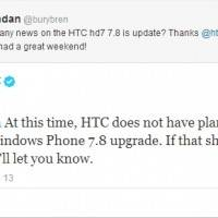 HTC не планирует обновить HD7 до WP7.8