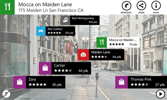 Nokia City Lens в целях Windows Phone