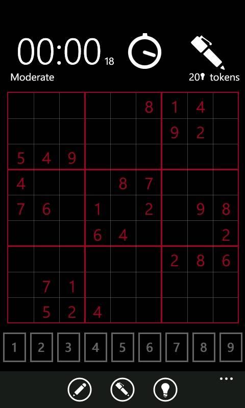 Sudoku для Windows Phone