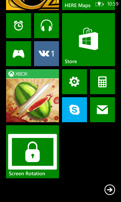 Screen Rotation для Windows Phone