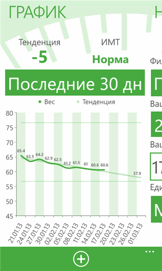My Weight Diary для Windows Phone
