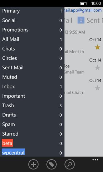 MetroMail для Windows Phone