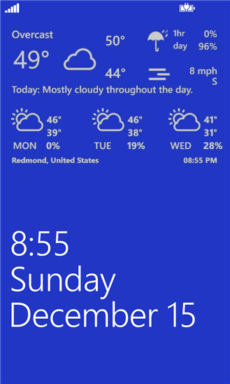 Weather Hound для Windows Phone