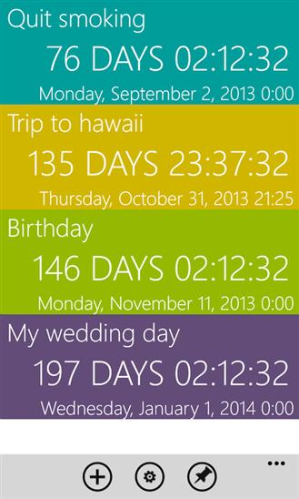 Countdown для Windows Phone