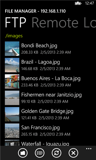 File Manager для Windows Phone