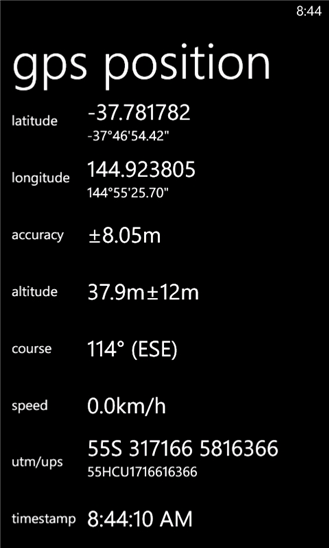 Mapsnap для Windows Phone