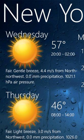 Скачать Weather View для Nokia Lumia 830