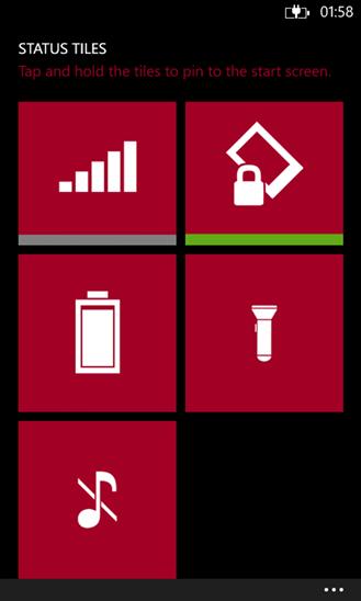 Скачать Status Tiles для HTC 8XT