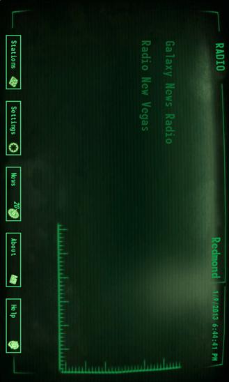 Pip-Boy Radio для Windows Phone
