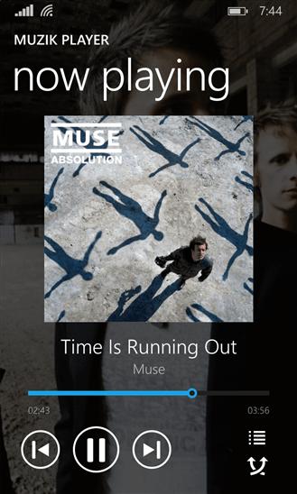 Muzik Player для Windows Phone