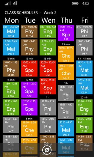 Скачать Class Scheduler для Highscreen WinJoy