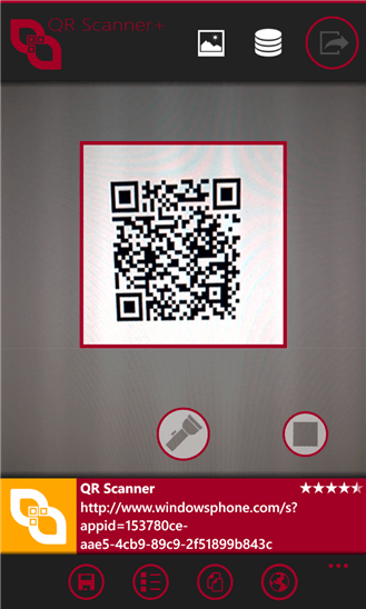 QR Scanner+ для Windows Phone