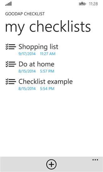 GoodAp Checklist для Windows Phone