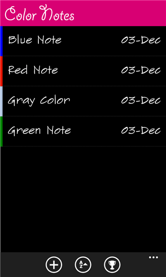 ColorNotes для Windows Phone