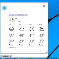 Скриншоты ранней версии Cortana на Windows 10