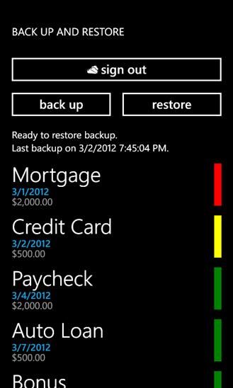Скачать Bill Reminder для Nokia Lumia 735