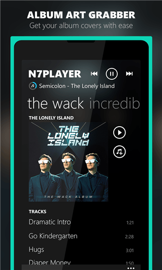 Скачать n7player Music Player для Nokia Lumia 1320