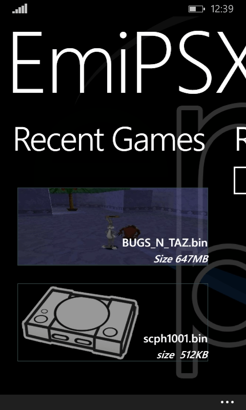EmiPSX для Windows Phone