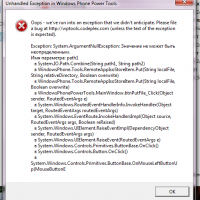 Обсуждение ошибок Windows Phone Power Tools