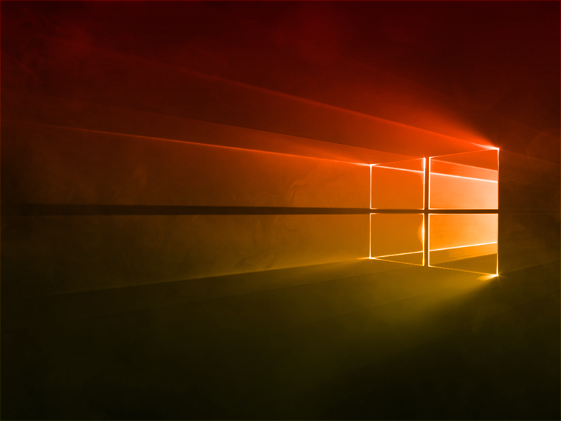 Windows 10 Gradient Yellow-Red