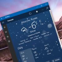 Прозрачная плитка появилась в релизной версии MSN Погода