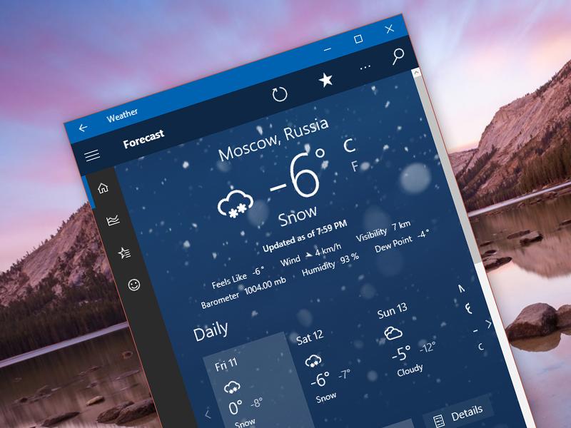 Норвежский сайт прогноза погоды в Мурманске и области Yr