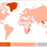 Microsoft запустила Office 365 в 10 новых странах