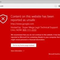 В Edge найдена уязвимость, позволяющая выдать любой сайт за вредоносный