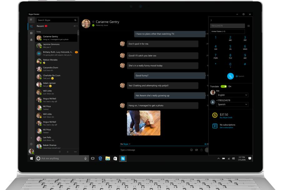 Skype Preview получает поддержку переводчика иряд остальных обновлений