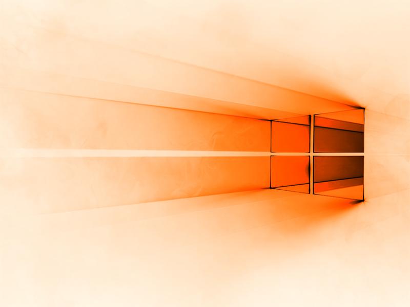 Windows 10 White Orange