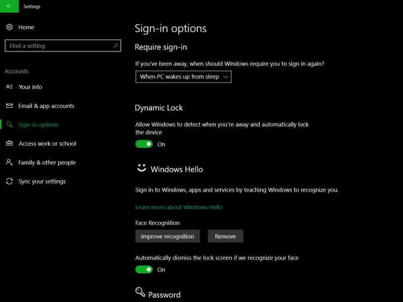 Windows 10 заблокируется, если пользователь отойдет откомпьютера