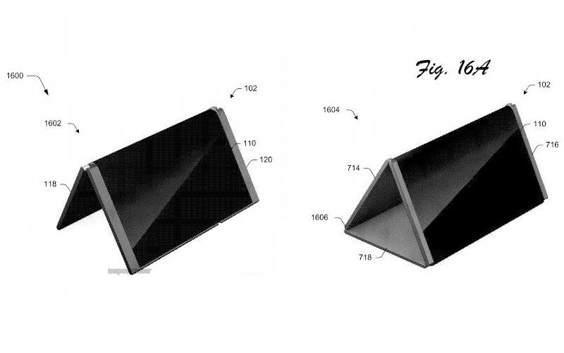 Microsoft запатентовала гаджет соскладным дисплеем