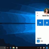 Microsoft отложила выпуск панели My People в Windows 10