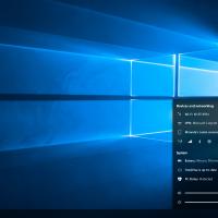 Концепт переработанной области уведомлений на панели задач Windows 10