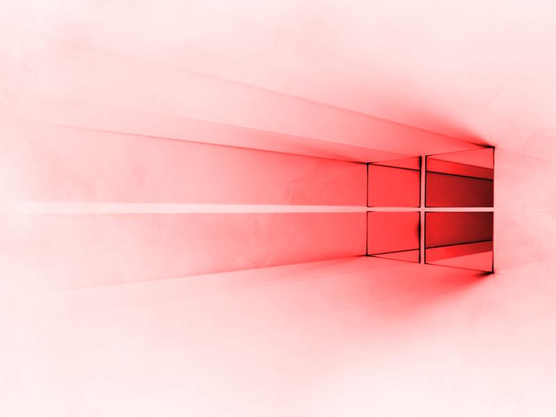Windows 10 White - Red