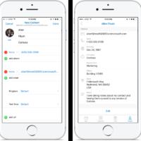 Outlook для iOS получило возможность добавлять и редактировать контакты