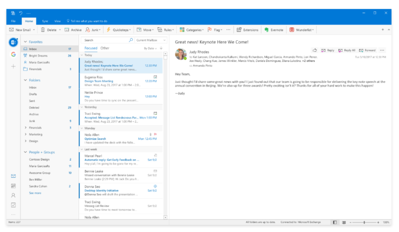 Outlook New Design
