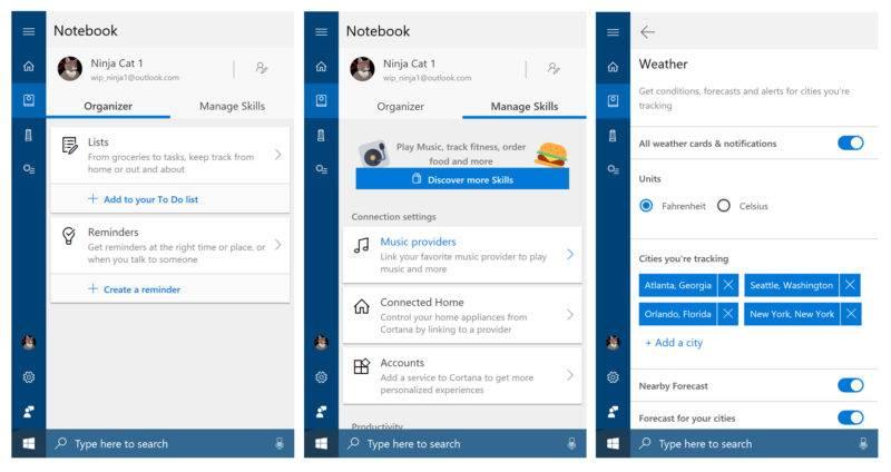 Cortana Notebook