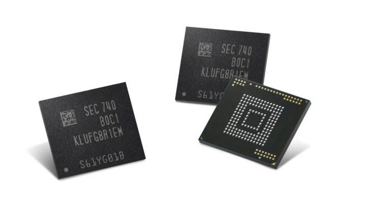 В телефонах Самсунг появится 512 ГБвстроенной памяти
