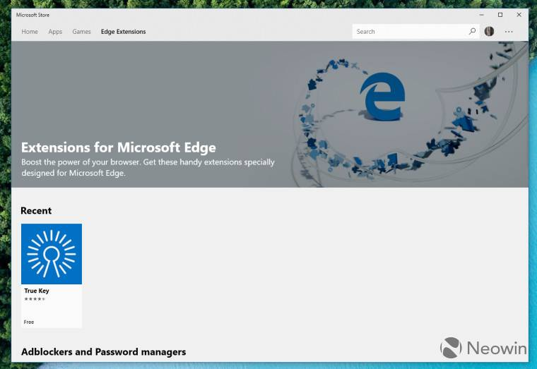 Edge Ext Store Page