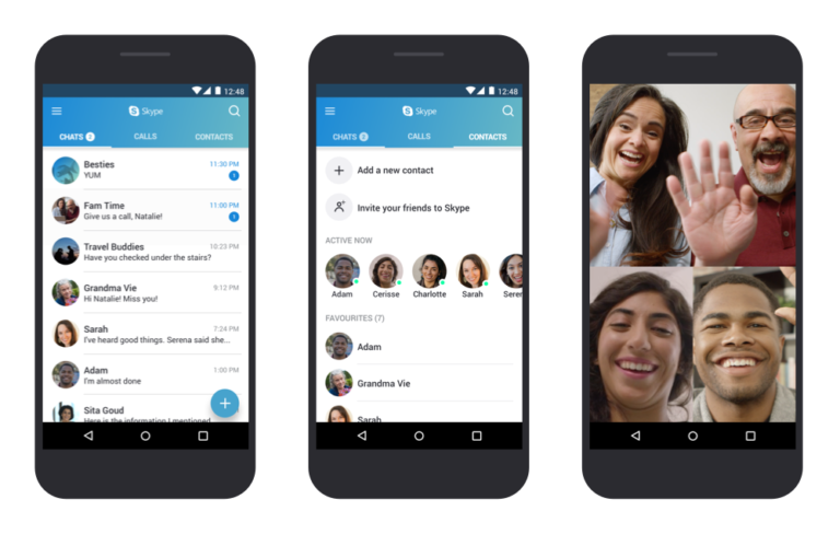 Simple Skype Android