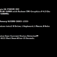 Ошибка USB Device Over Current Status Detected