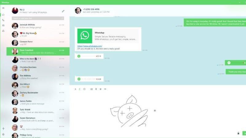 WhatsaApp Desktop UWP