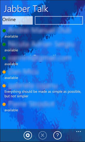 JabberTalk для Windows Phone