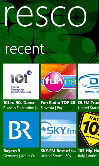 Скачать Resco Radio для Nokia Lumia Icon